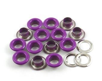 Size: 13*7*5.5mm (OD * ID * Height) Purple Round Eyelet Grommet (PURPLE-RG13)