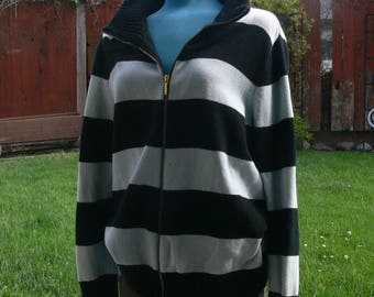 chaps black and blue sweater 2x cotton