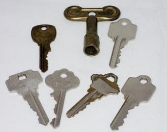 Vintage Collection of Old Keys
