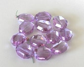 VALENTINE SALE 20x16mm Large Alexandrite Oval Glass Beads, Light Purple, Faceted Glass with Slight AB,  Focal Beads, 12 Pieces (alb-012217)