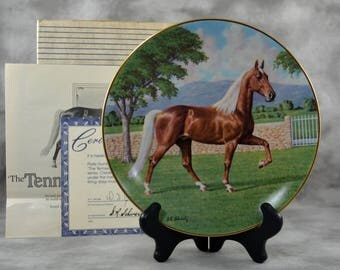 Tennessee Walker Plate by Donald Schwartz Purebred Horses of the Americas Collection