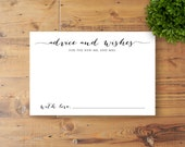 Instant Download - Advice and Wishes Card, Wedding Reception