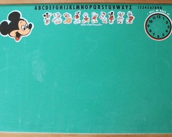 Vintage Walt Disney Alphabet Two-Sided Chalkboard 1960s