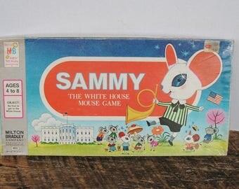 Vintage Sammy The White House Mouse Game 1977 Milton Bradley (Not Complete)