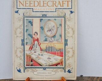 Vintage Needlecraft Magazine September 1927