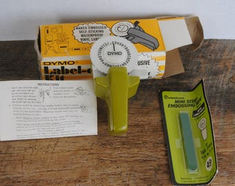 Vintage Dymo Label-ette Kit with Extra Dennison Tape