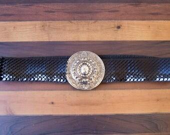 80s Scale Sequin Statement Belt Size Medium