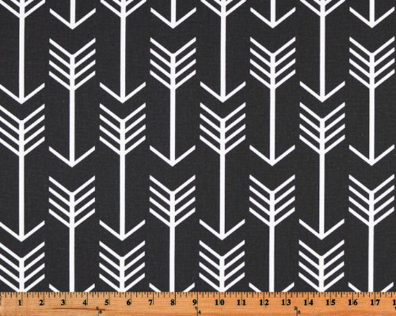 Black and White Arrow Modern Curtains  Rod Pocket  63 72 84 90 96 108 or 120 Long by 24 or 50 Wide
