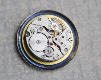 Vintage Soviet Russian wrist watch movement.