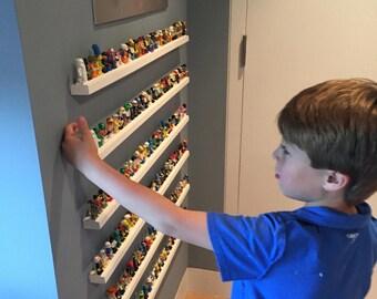 Lego mini figure shelf.  Display and store your mini figures!