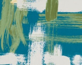 """Two 96"""" x 50""""  Custom Lined   Curtain Panels - Robert Allen Abstract Sedge Turquoise"""