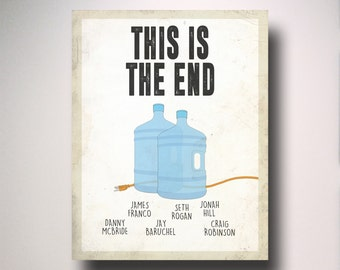This Is The End Inspired Minimalist Movie Poster