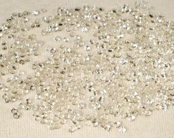 1000 3MM Crystal Clear Faceted Glass Pointed Rhinestones