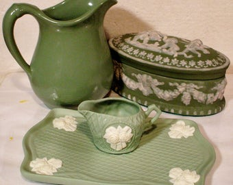 Vintage Ceramic Bathroom Vanity Set of 4