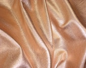 "NEW ROSE GOLD Metallic 12""x12"" soft cowhide - Shows the Grain - Pebbled Leather 3-3.25 oz / 1.2-1.3 mm PeggySueAlso™ E4100-01"