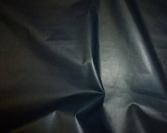 "Leather 12""x12"" PLONGE Navy Full grain THIN Cowhide 1.25-1.5 oz/0.5-0.6 mm PeggySueAlso™ E2843-10"