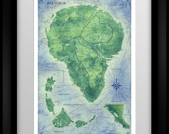 Jurassic Park Map - Home Decor Art Poster - Full Colour