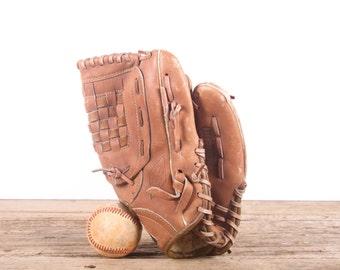 Old Vintage Leather Baseball Glove / Winner's Choice  Baseball Glove / Antique Baseball Glove / Old Glove Antique Mitt / Baseball Decor