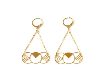 Earrings Susy brass gold filled 24k or silver plated brass