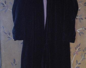 60s black velvet coat by 365 All State