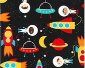 Primary Super Kids Astronauts and Space Ships from Robert Kaufman's Space Explorers Collection by Ann Kelle