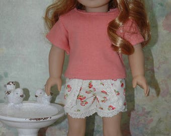american, made, girl, doll, for 18 inch doll, tee shirt, shorts