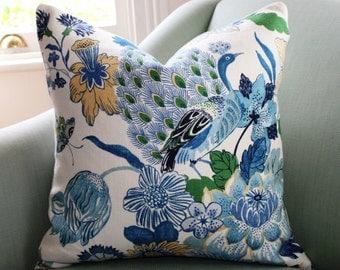 Schumacher Lansdale Bouquet Pillow Cover