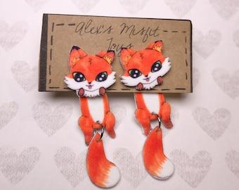 Cute Fox clinging fake gauge style warrings