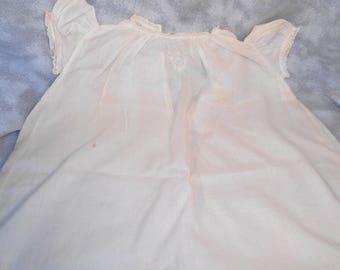 Vintage Yolande Childs Christening Gown or Dress Beige Very Old Girls Dress