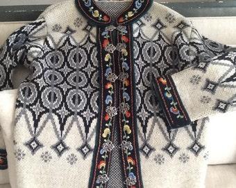 Handmade Scandinavian cardigan sweater