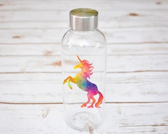 Unicorn Water Bottle, Water Bottle, Unicorn