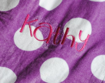 Embroidered Towel Wrap, birthday gift, bridal party, wedding, back to school, graduation, sorority