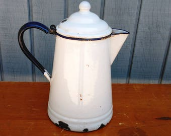 Enamel Coffee Pot - Enamel Pitcher