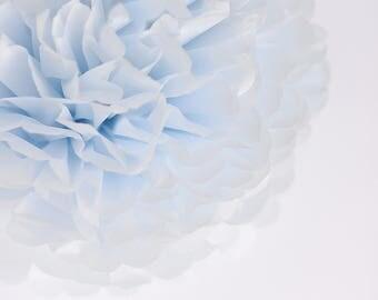 Paper pom pom in breeze blue - pale blue -  wedding decorations / party decor/ nursery decor/ bridal baby shower/ tissue paper pompoms