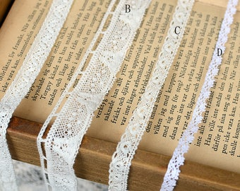 30 meter 0.6-2.1CM wide ivory cotton tapes lace trim ribbon T16C545L0515R free ship