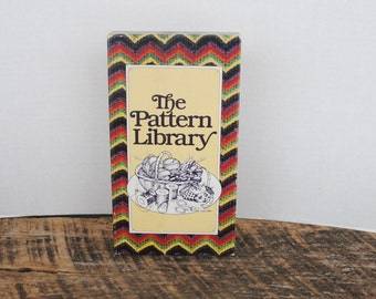 The Pattern Library Three Book Set 1981 Crochet Knitting and Patchwork Applique