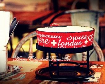 Paris Food, French Photography, Parisian Decor, Cafe Art, Bistro Print, French Kitchen Decor, Rustic Art, Fondue, Cheese Wall Art, Raclette