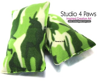 Guinea Pig Luxury Large Pillows - (Green Camo)