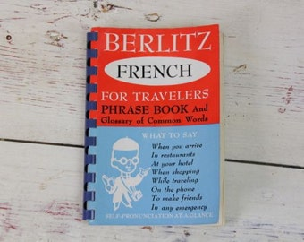 The Berlitz French For Travelers Phrase Book 1954 Learn French Language #109