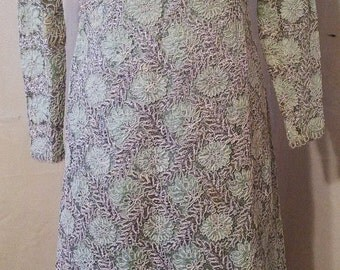 """BIG HOLIDAY SALE Beautiful 70s Vintage Mint Green Lace Maxi Dress-Evening Gown-Size 4-Small-36"""" Bust-Wedding Bridal Party-Prom-Modest-Waldor"""