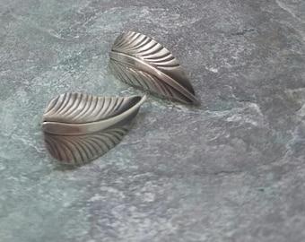 Southwestern Feather Sterling Silver Post Earrings