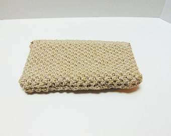 Vintage Clutch Handbag 70s Woven Clutch Bag Hinge Close Too Cute