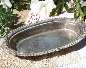 A pretty little oval silver tray