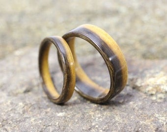 Ironwood Bentwood Ring Set - And We Plant A Tree :)