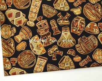 "2338  - 1 yard Cotton Poplin fabric - Retro heritage cans (140cmx91.44cm,55""x36"")"