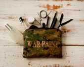 War Paint Makeup Bag in Camo and Copper