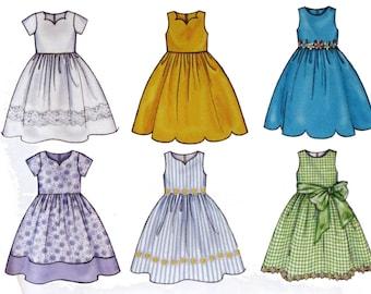 Children's Dress, Sewing Pattern, Size 2 - 3 - 4 -5, UNCUT,  Butterick 3350, Toddler Dress, Church Dress Pattern, Dress With Dirndl Skirt