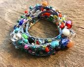 Simply: Versatile crocheted necklace / bracelet / belt / headband