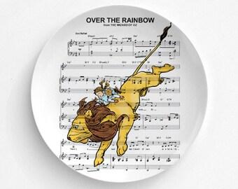 Over The Rainbow Melamine Plate, Melamine Plate, decorative plate, Dinner Plate, Serving Plate, gift for mom