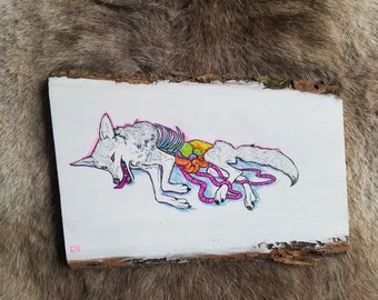 A Dead Coyote original painting
